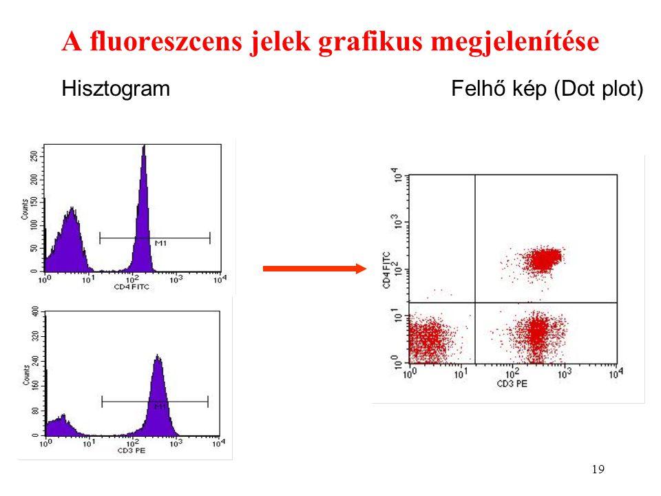 A fluoreszcens jelek grafikus megjelenítése