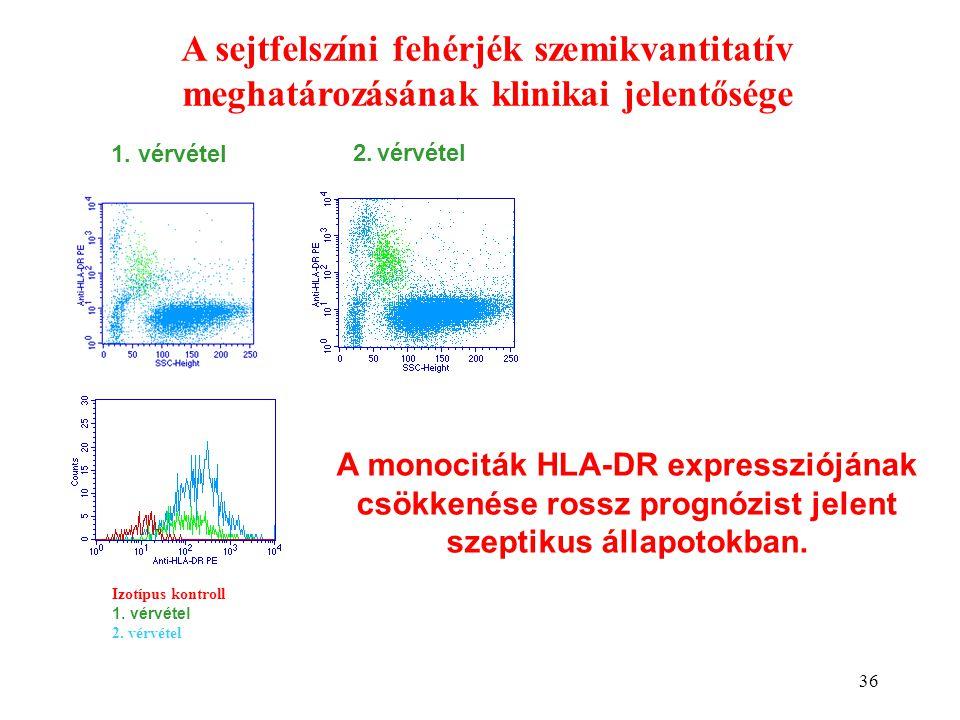 A sejtfelszíni fehérjék szemikvantitatív meghatározásának klinikai jelentősége