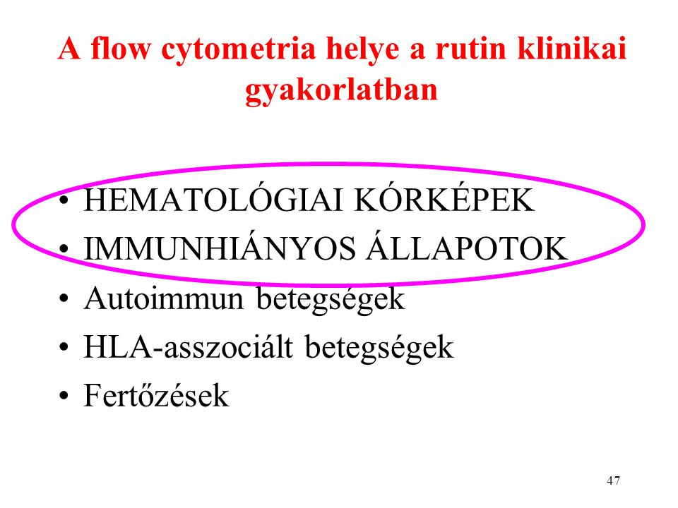 A flow cytometria helye a rutin klinikai gyakorlatban