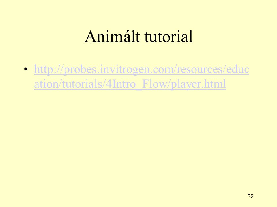 Animált tutorial http://probes.invitrogen.com/resources/education/tutorials/4Intro_Flow/player.html