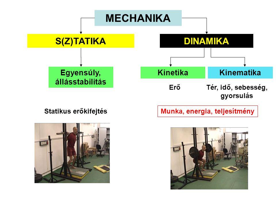 MECHANIKA S(Z)TATIKA DINAMIKA Egyensúly, állásstabilitás Kinetika