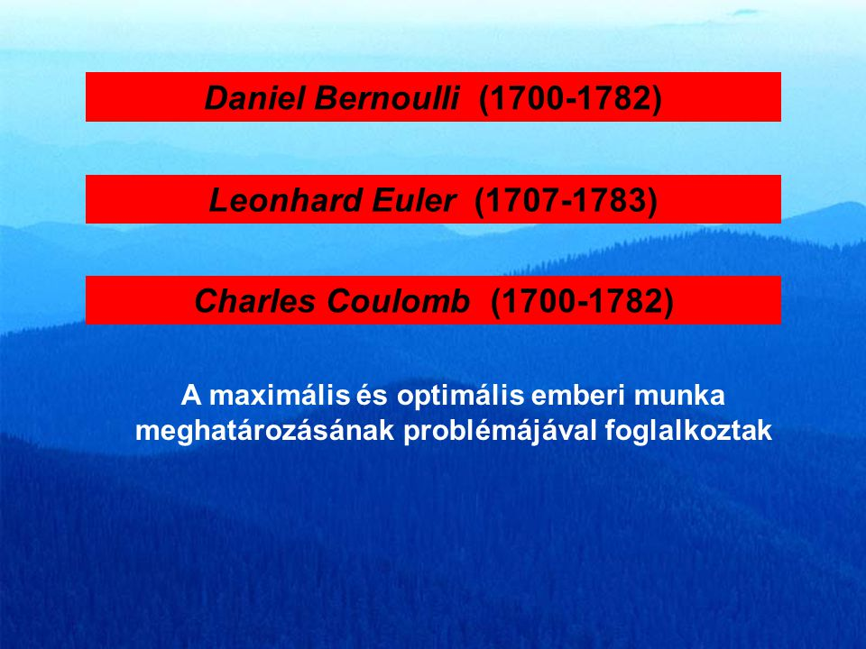 Daniel Bernoulli (1700-1782) Leonhard Euler (1707-1783)