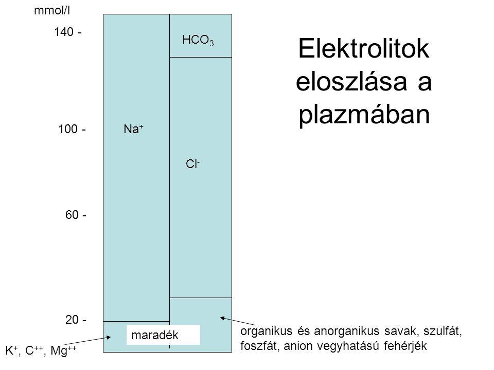 Elektrolitok eloszlása a plazmában