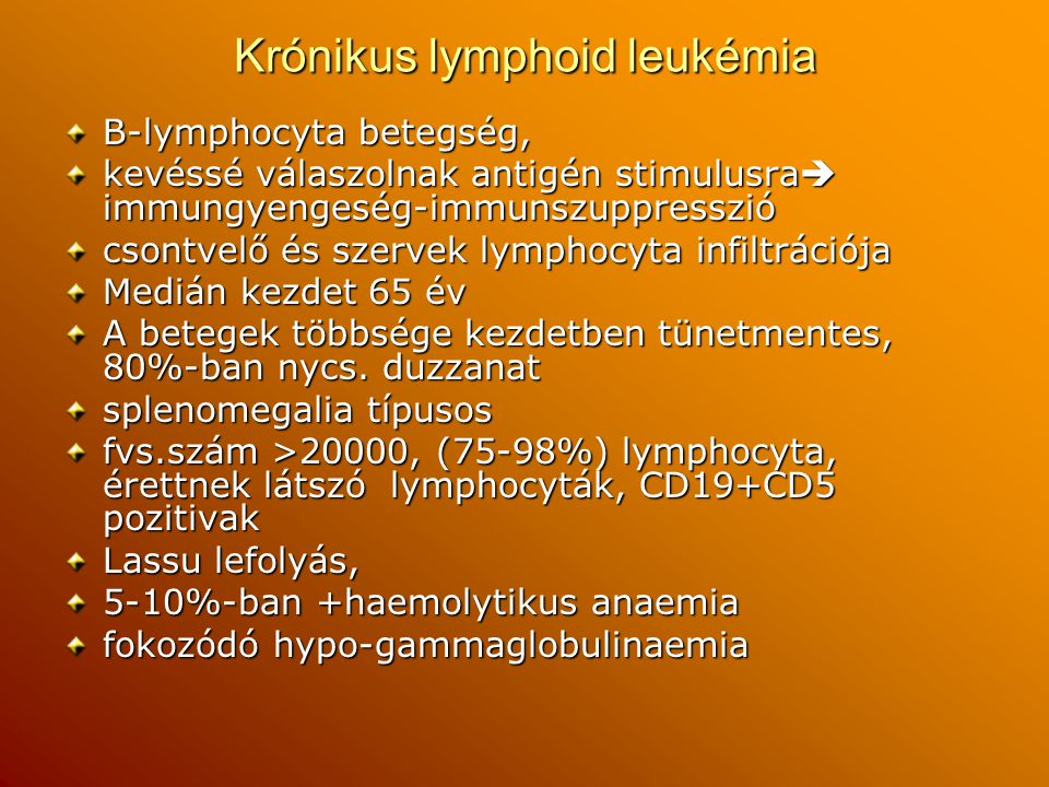 Krónikus lymphoid leukémia