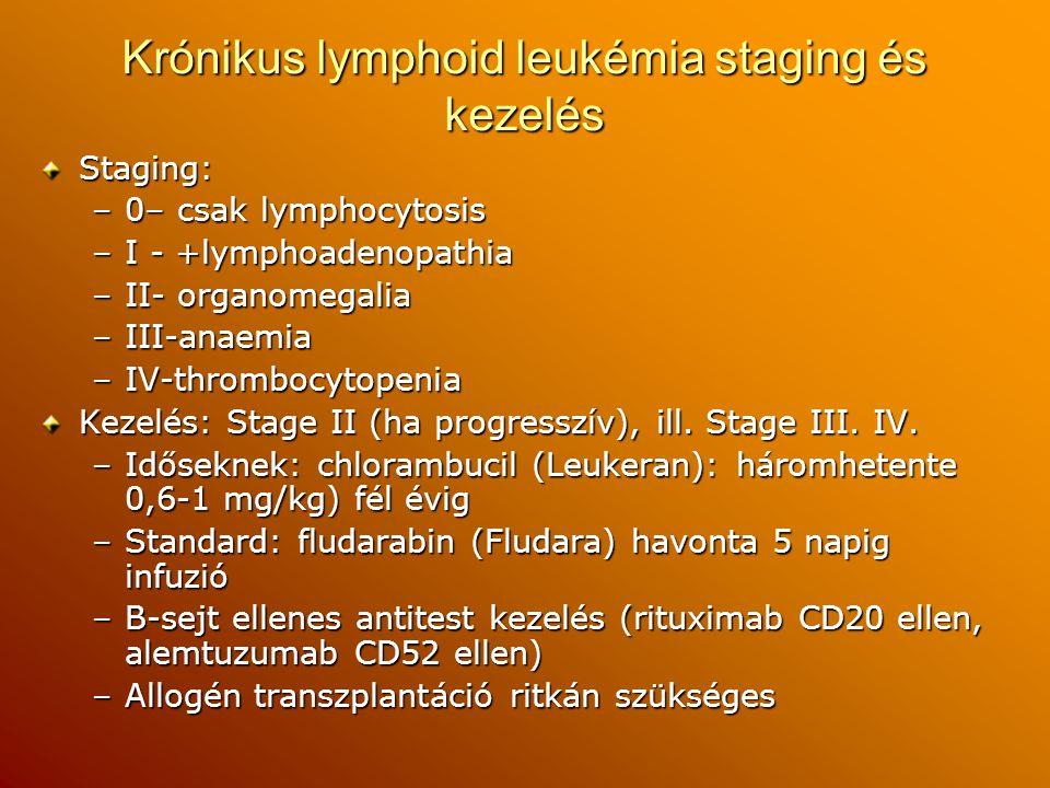 Krónikus lymphoid leukémia staging és kezelés