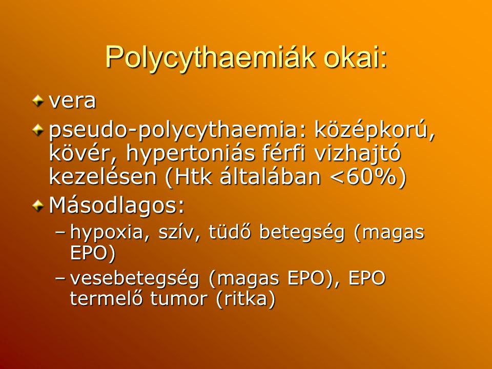 Polycythaemiák okai: vera