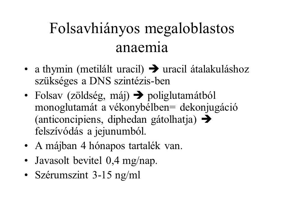 Folsavhiányos megaloblastos anaemia