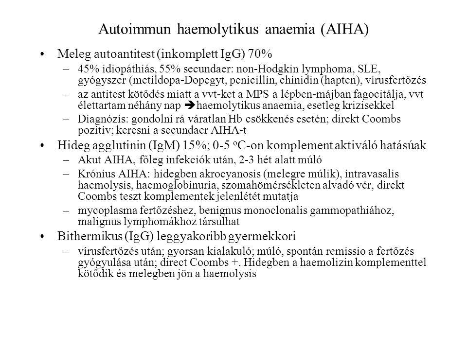 Autoimmun haemolytikus anaemia (AIHA)