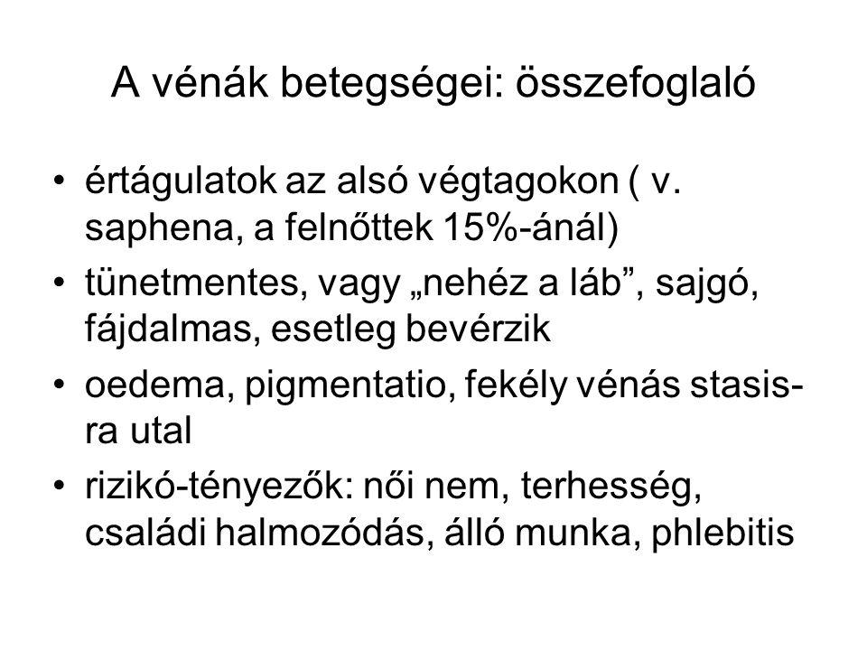 A vénák betegségei: összefoglaló