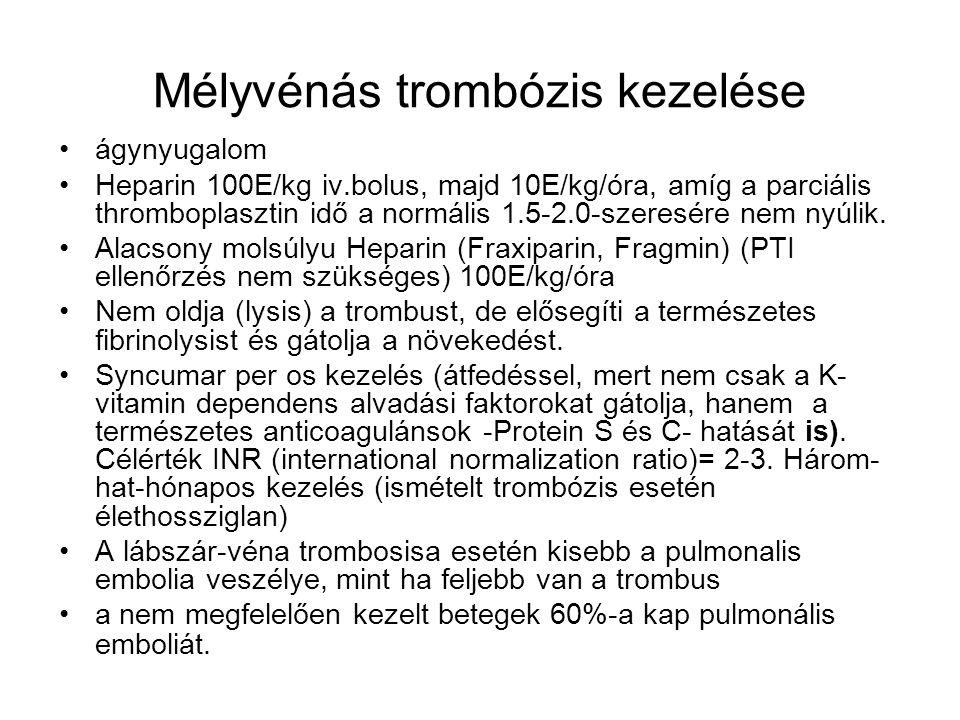 Mélyvénás trombózis kezelése