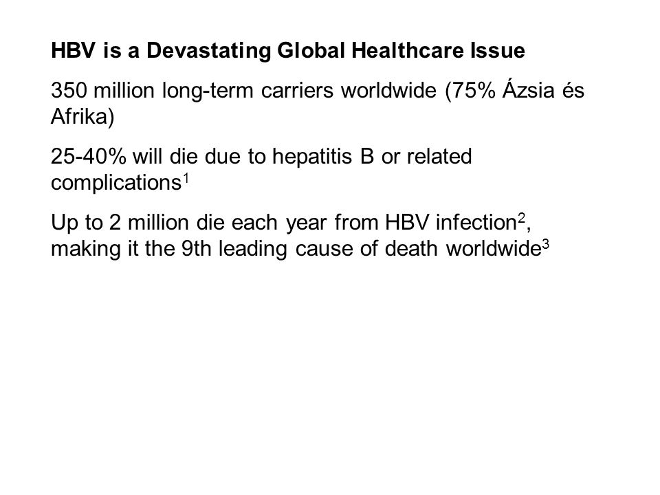 HBV is a Devastating Global Healthcare Issue