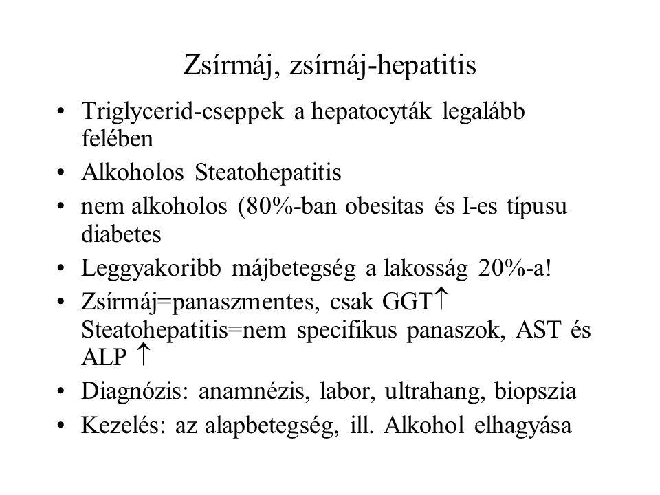 Zsírmáj, zsírnáj-hepatitis