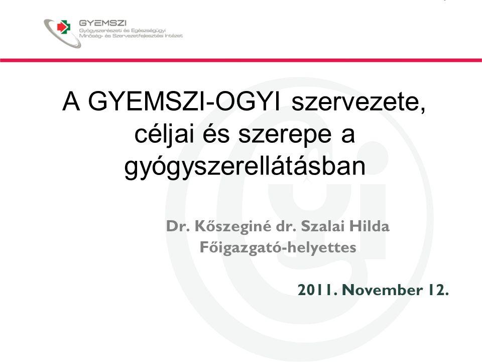 A GYEMSZI-OGYI szervezete, céljai és szerepe a gyógyszerellátásban