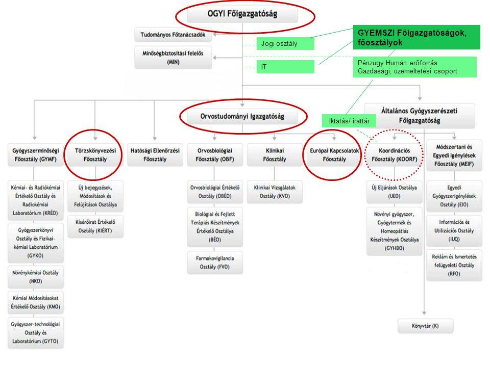 GYEMSZI Főigazgatóságok, főosztályok