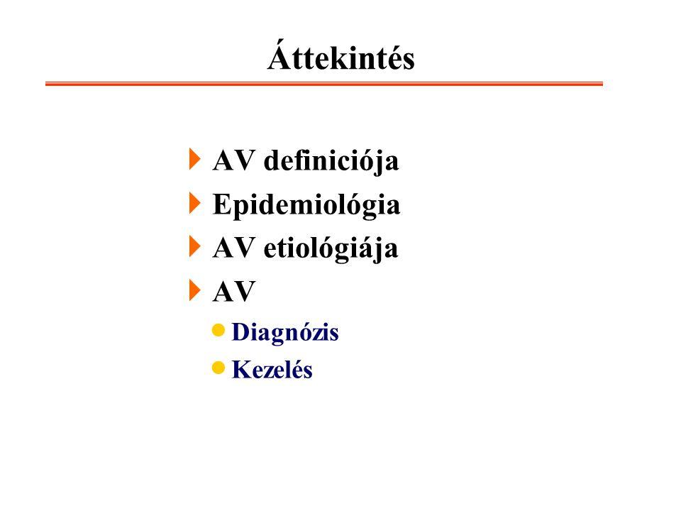 Áttekintés AV definiciója Epidemiológia AV etiológiája AV Diagnózis
