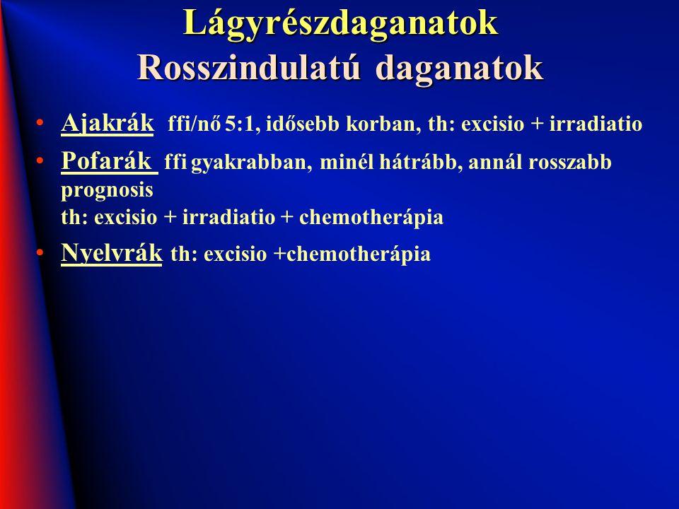 Lágyrészdaganatok Rosszindulatú daganatok