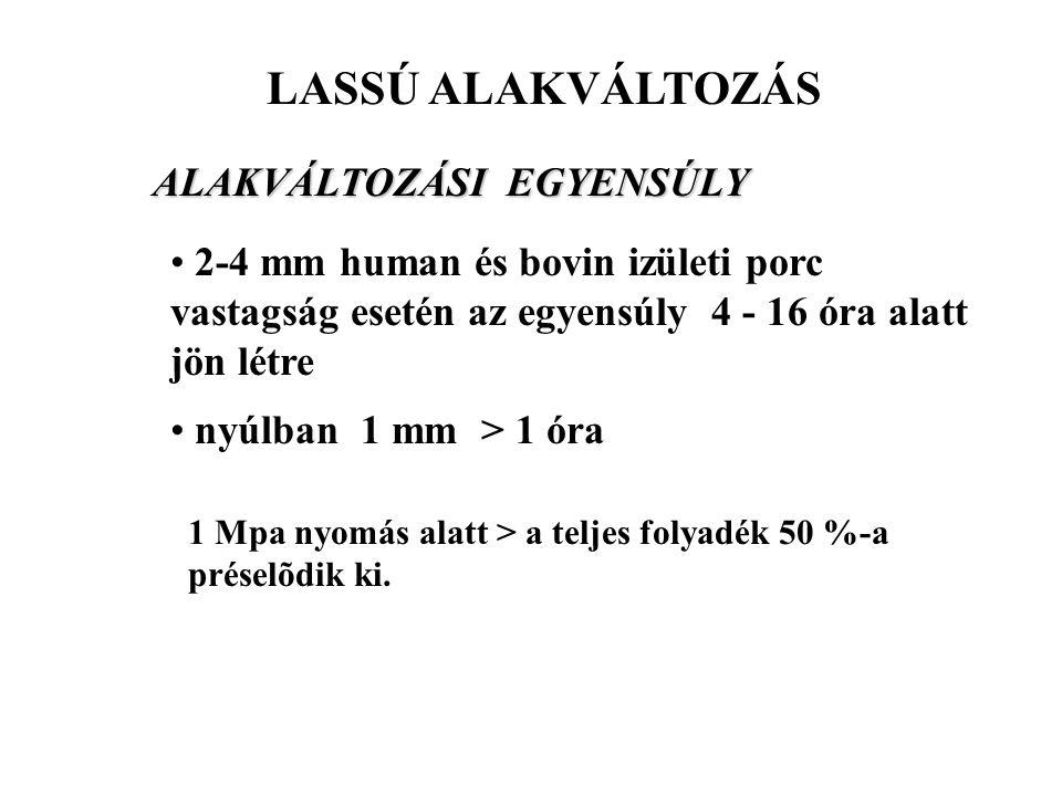 LASSÚ ALAKVÁLTOZÁS ALAKVÁLTOZÁSI EGYENSÚLY