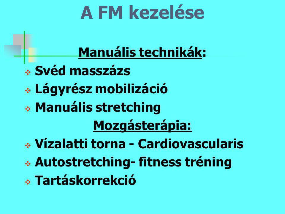 A FM kezelése Manuális technikák: Svéd masszázs Lágyrész mobilizáció
