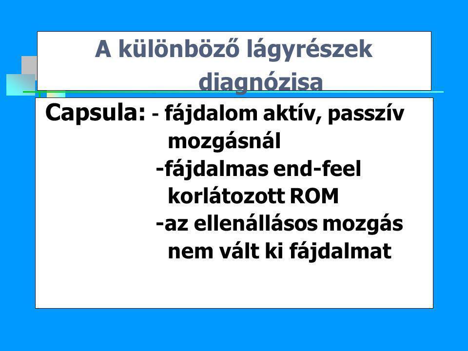 A különböző lágyrészek diagnózisa