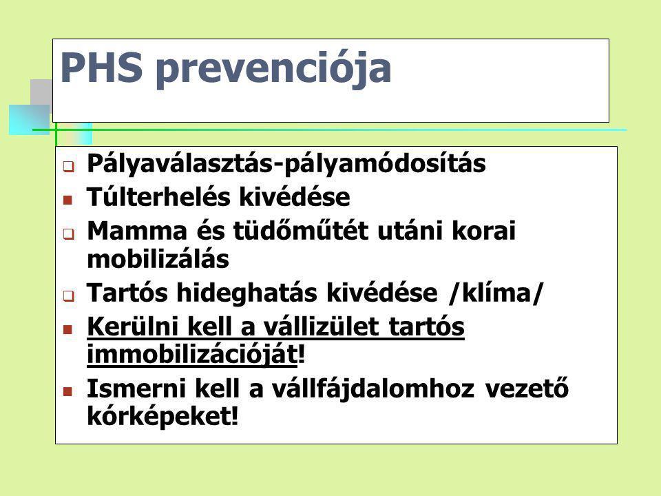 PHS prevenciója Pályaválasztás-pályamódosítás Túlterhelés kivédése