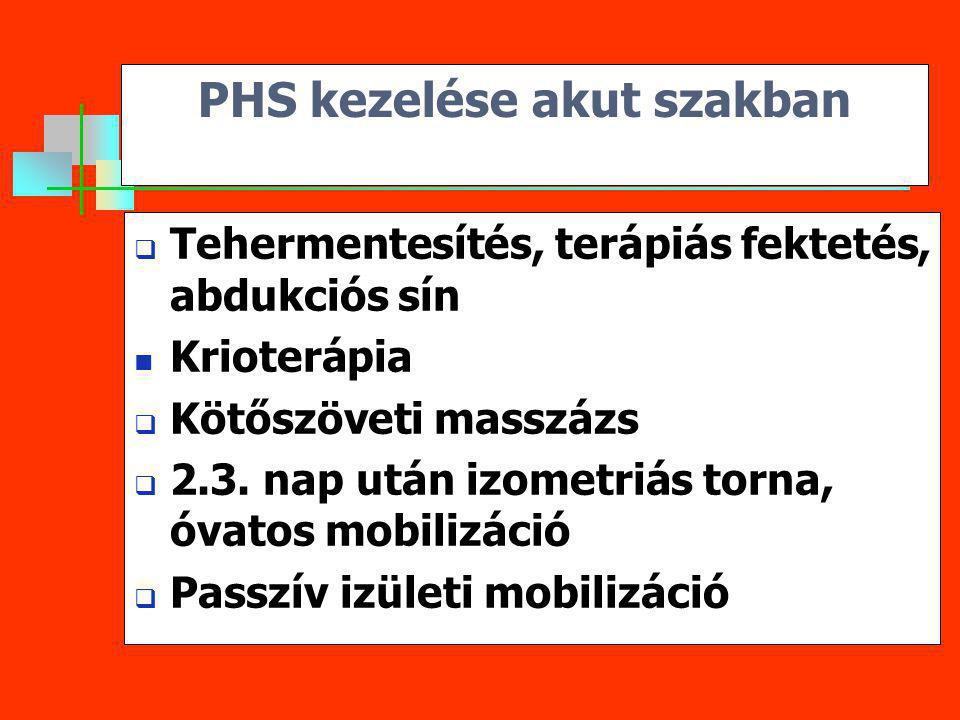 PHS kezelése akut szakban
