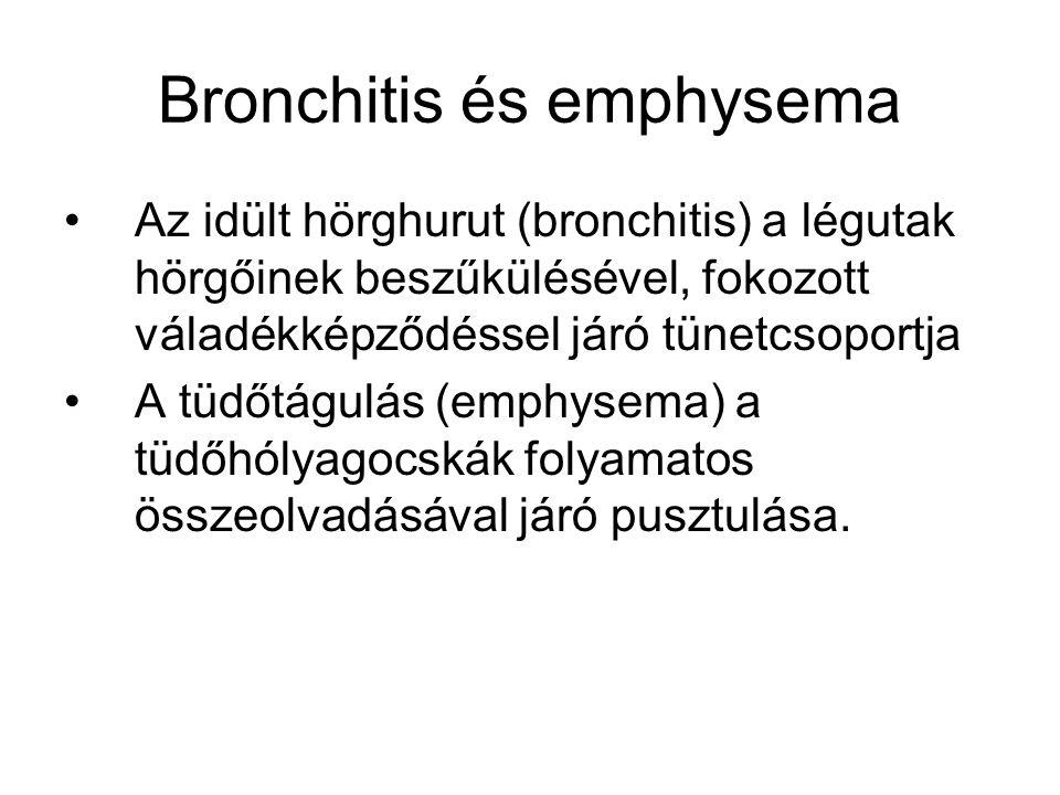 Bronchitis és emphysema