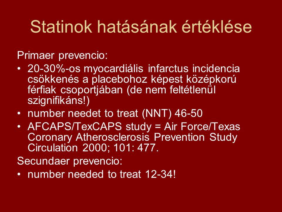 Statinok hatásának értéklése