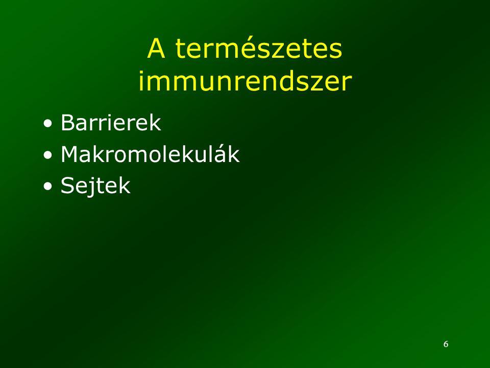 A természetes immunrendszer