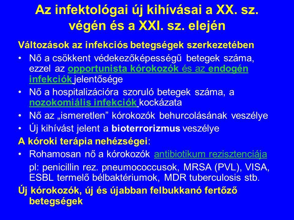 Az infektológai új kihívásai a XX. sz. végén és a XXI. sz. elején