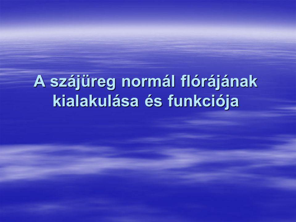 A szájüreg normál flórájának kialakulása és funkciója