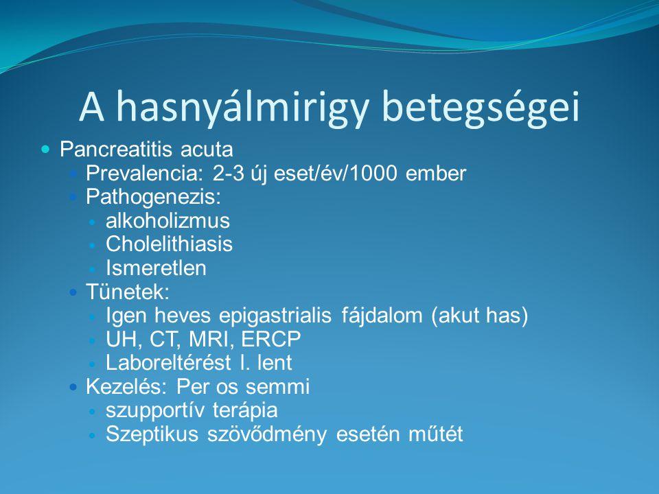 A hasnyálmirigy betegségei