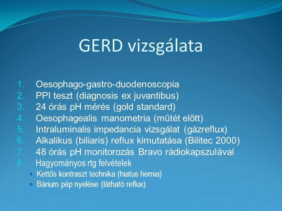 GERD vizsgálata Oesophago-gastro-duodenoscopia