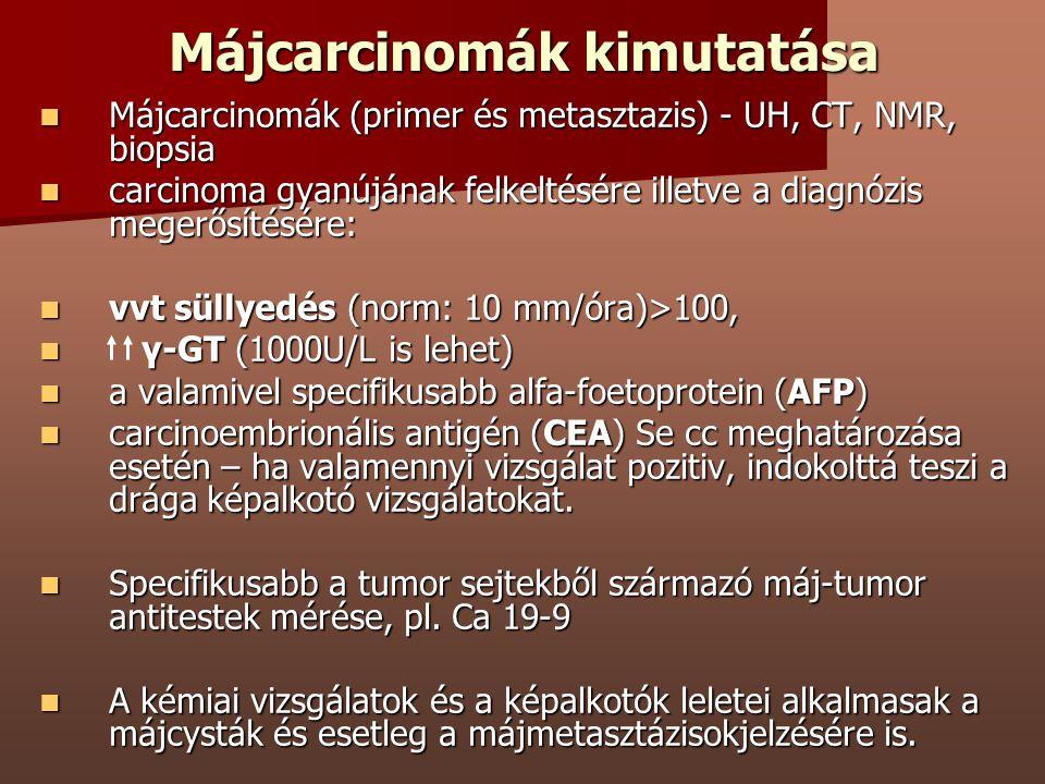 Májcarcinomák kimutatása