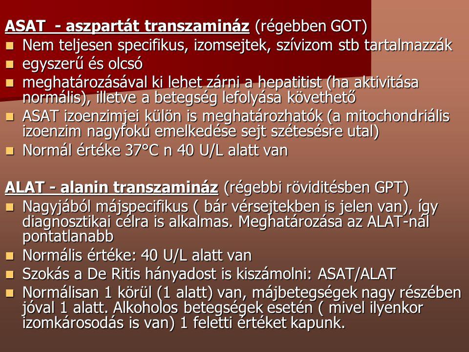 ASAT - aszpartát transzamináz (régebben GOT)