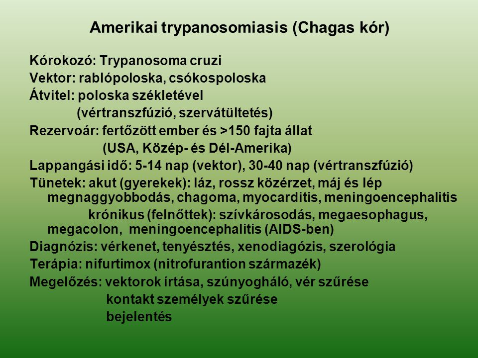 Amerikai trypanosomiasis (Chagas kór)