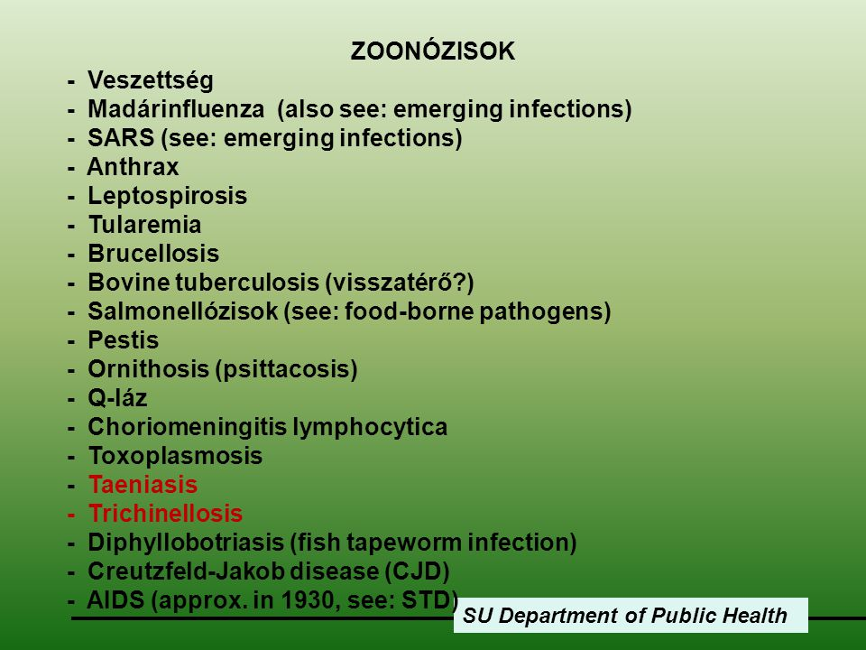 - Madárinfluenza (also see: emerging infections)
