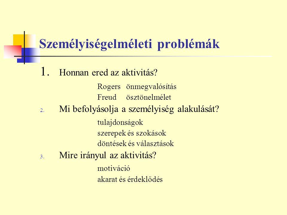 Személyiségelméleti problémák