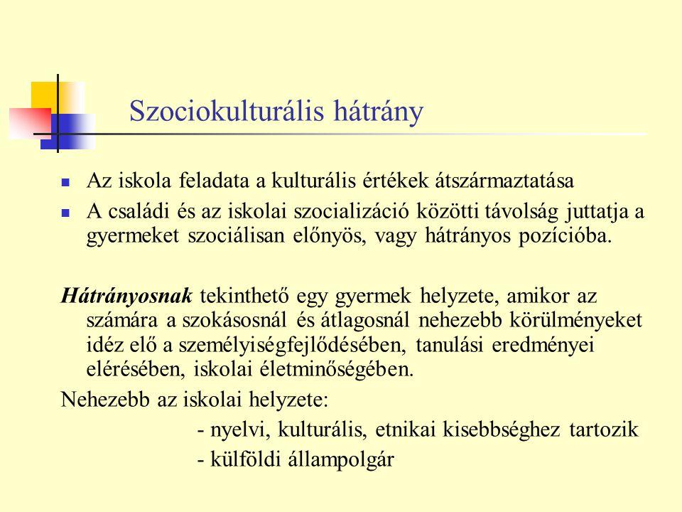 Szociokulturális hátrány