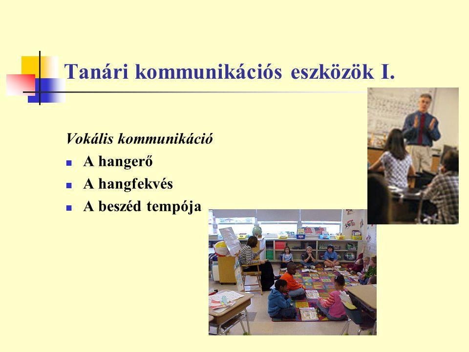 Tanári kommunikációs eszközök I.