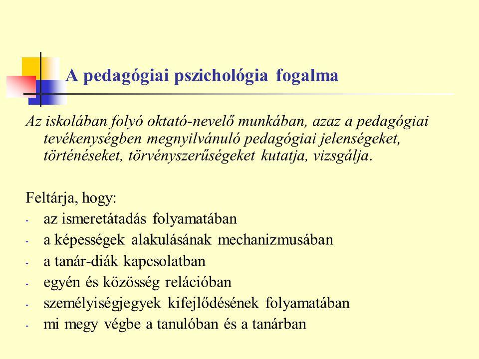 A pedagógiai pszichológia fogalma