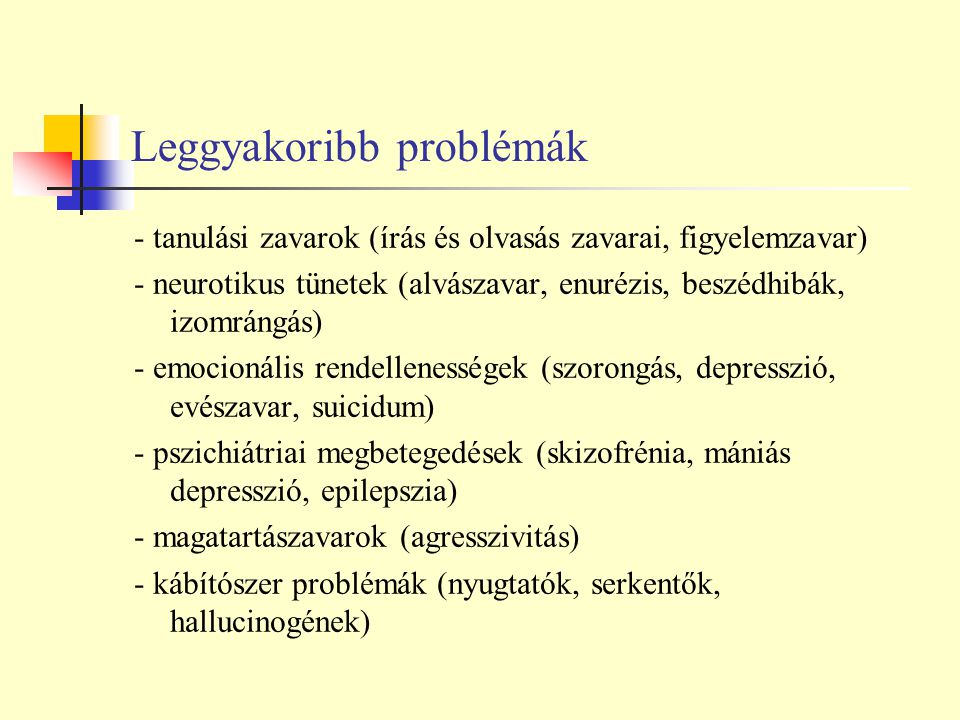 Leggyakoribb problémák