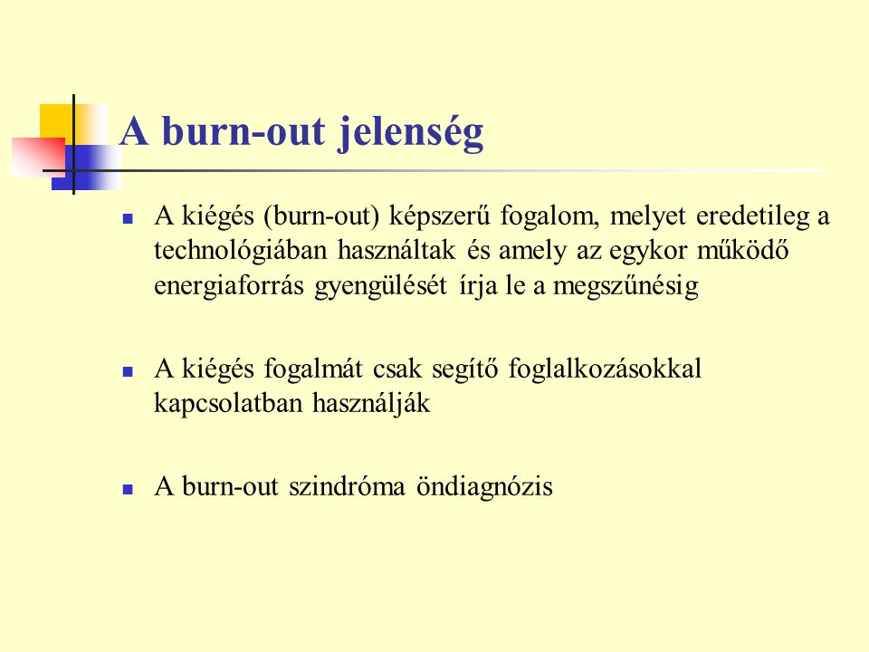 A burn-out jelenség