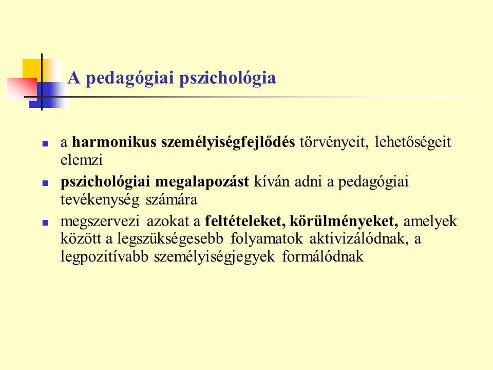 A pedagógiai pszichológia