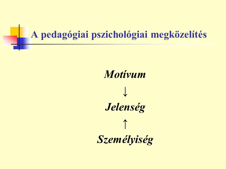 A pedagógiai pszichológiai megközelítés
