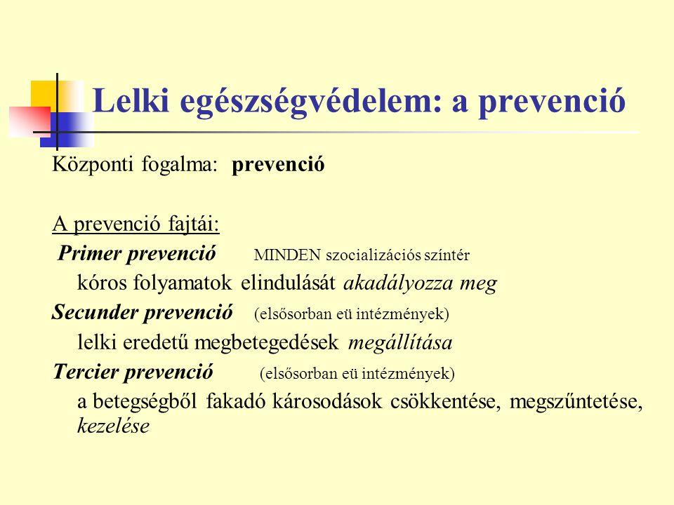 Lelki egészségvédelem: a prevenció