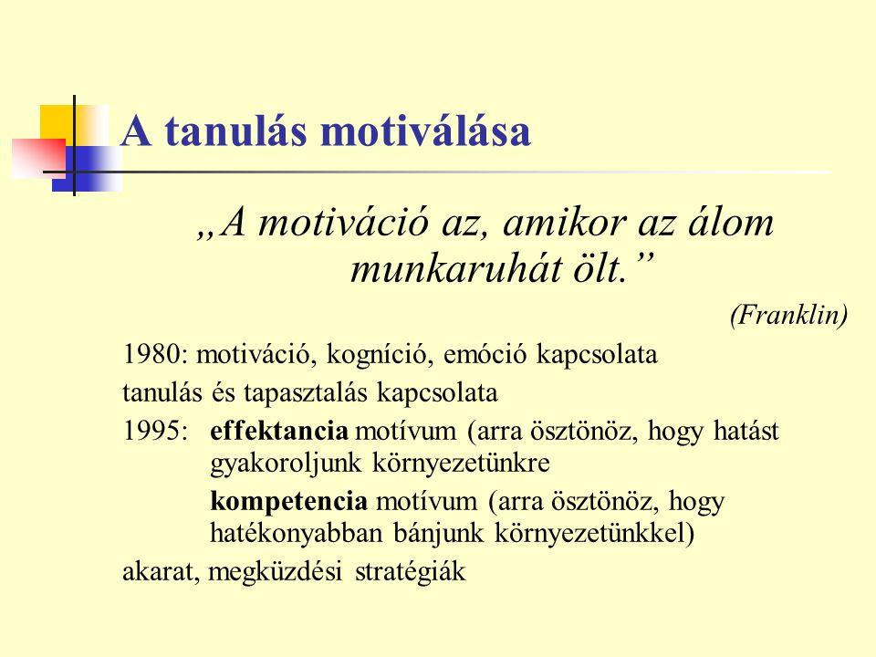 """""""A motiváció az, amikor az álom munkaruhát ölt."""