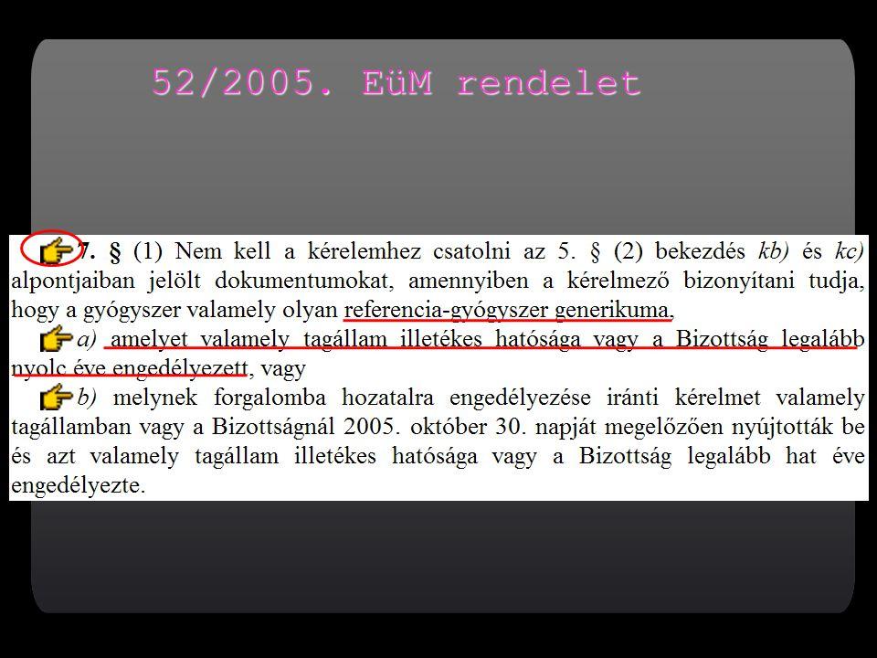 52/2005. EüM rendelet