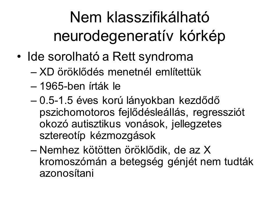 Nem klasszifikálható neurodegeneratív kórkép