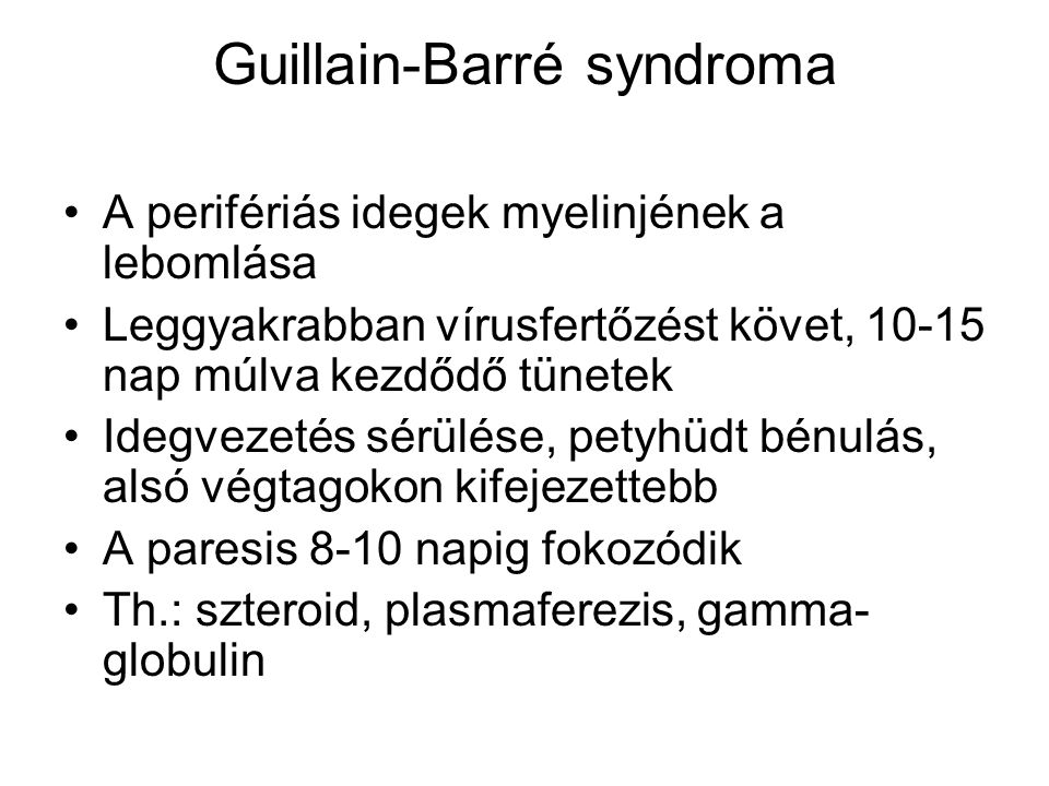 Guillain-Barré syndroma