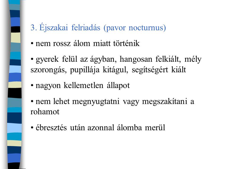 3. Éjszakai felriadás (pavor nocturnus)